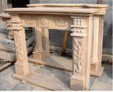 Marmo bianco/camino giallo granito/del marmo per la decorazione dell'interno