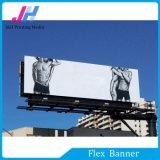 Bandera brillante blanca de la flexión del PVC Frontlit para las muestras comerciales