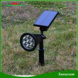 태양 스포트라이트 옥외 점화 태양 강화된 안전 조경 벽 잔디밭 빛을 색깔 변화하는 7개의 LED 자동차
