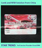 Taxi de la tarjeta de bicicleta de la tarjeta de plástico con la firma para la comunicación