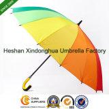 16 Paraplu van het Golf van de Regenboog van ribben de Grote met Aangepaste Emblemen (gol-1627R)