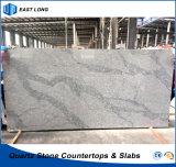 Pierre artificielle de quartz pour le matériau de construction extérieur solide avec la qualité (Calacatta)