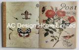 旧式な花デザインPU Leather/MDFの木の本の形の壁の芸術