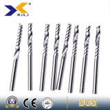 Elevada precisão 1/2/4 de cortador de trituração do fim do carboneto da flauta com ISO9001: 2008