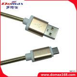 Кабель данным по USB вспомогательного оборудования мобильного телефона с металлом для iPhone