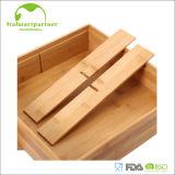 Rectángulo natural del bambú del almacenaje del caramelo