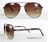 Nueva llegada chapado Premium de metal experimental de gafas de sol