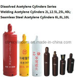 ISO3807-1標準Semalessの鋼鉄アセチレンシリンダー6L/8L