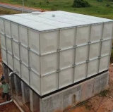 el tanque de almacenaje del agua de 500m3 FRP para el agua de lluvia