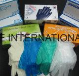 医学の手袋の使い捨て可能な安全身体検査のビニールの手袋