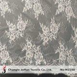Le plus récent de la Mariée en tricot dentelle Jacquard blanc tissu de robes de mariée (M2250)
