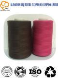 Uso 100% del tessuto del ricamo del filato cucirino del rayon del poliestere