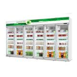 Aprovado pela CE Visor de Bebidas Vertical Comercial Mostruário de armário frigorífico