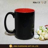 Tasse en céramique faite sur commande bon marché promotionnelle avec l'impression de logo de cuillère
