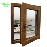 Abrir panel único de doble acristalamiento de aluminio Cristal de ventana de madera