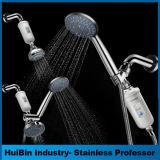 Aquaspa 6-Inch Regen-Dusche-Kopf/Handkombiniertes. Bequeme Tastenwahlsteuerung- des Datenflussestaste für einfaches One-Handed Geschäft. Fluss-Einstellungen mit dem gleichen H schalten