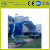 Iluminação de palco, no interior e no exterior, escada de alumínio