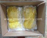 DIP 45g Flocked перчатки латекса домочадца водоустойчивого природного каучука померанцовые