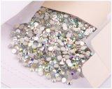 못 예술 모조 다이아몬드는 무연 아름다움 모조 다이아몬드 Ab 편평한 뒤 결정이다