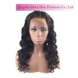В НАЛИЧИИ НА СКЛАДЕ Черный Virgin бразильского человеческого волоса кружева Wig быстрая доставка