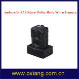 140 bouwde de graad Brede Hoek GPS IP65 1080P Wearable Versleten Videocamera van de Politie Lichaam in