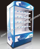 Showcase Refrigerated do supermercado bebida vertical