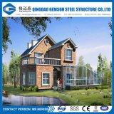 Villa d'inquadramento d'acciaio chiara prefabbricata moderna di disegno architettonico