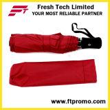 Das kundenspezifische fördernde geöffnete Automobil/schloß faltenden Regenschirm mit Firmenzeichen