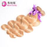 Weven van het Haar van de Kleur van de blonde #27 het Cambodjaanse Kroezige Krullende Onverwerkte Maagdelijke aan Groothandelsprijs