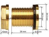 Guarniciones de cobre amarillo del conector del tanque para el sistema de plomería