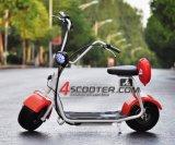 2018 Harley popular estilo Scrooser Scooter eléctrico con ruedas grandes, la moda Ciudad Scooter Citycoco