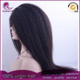 Parrucca piena crespa di Yaki/diritta dei capelli indiani Virgin del merletto