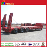 3axles 30-60ton Semi-caminhão Lowbed Loader Low Bed Trailer