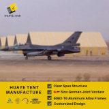 白いPVC屋根カバー(HHA)が付いているアルミニウム航空格納庫のテント