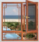 Stoffa per tendine di legno Windows di vetro, affrontare/parte esterna/aperto provvisto di cardini verticale di stile europeo