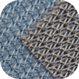Tejido de malla de poliéster y tejido de ganchillo en venta en caliente