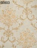 室内装飾(380g/sqm 53CM*10M)のための花盛りのわらパターンPVC壁紙