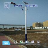 luz de rua solar da bateria de lítio 80W de 9m