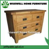 Mobília de madeira antiga da sala de visitas do gabinete de armazenamento com a gaveta na cor de creme