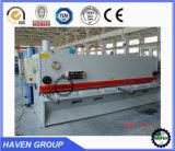 Machine de tonte hydraulique QC12K-20X5000 de plaque en acier de faisceau d'oscillation de commande numérique par ordinateur