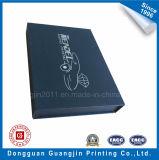 Boîte-cadeau rigide de carton de papier de configuration gravée en relief par qualité