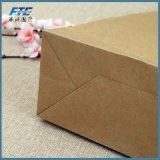Kundenspezifisches Firmenzeichen gedruckte Packpapier-Einkaufstasche Brown-