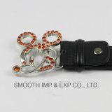Kundenspezifische Zink-Legierungs-einfache Klipp-Gürtelschnalle der Form-3D Brasssilver