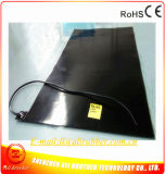 calefator preto da borracha de silicone de 750*1150*1.5mm para a placa de metal