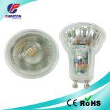 GU10 Place de l'éclairage par LED SMD 7W avec couvercle en verre