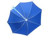 Manuel de sécurité ouvert LED Flashlight arbre poignée droite parapluie (SU031)