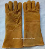 16 дюйма сварки коровы Split кожаные перчатки техники безопасности