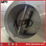 Tipo de wafers de duplo disco da válvula de retenção de giro da chapa dupla (H76)