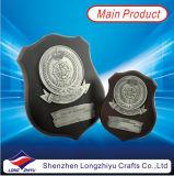 Металлическая пластинка медали Tophy экрана медали металла эмали деревянная