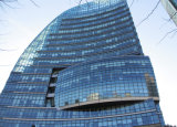 Paredes moderno diseño estructural de cortina de cristal